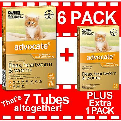 Advocate for Kittens and Small Cats Up to 4kg 6 Pack PLUS Bonus 1 Pack