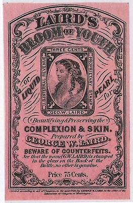 Laird's Bloom Of Youth 3¢ Proprietary Stamp Essay Hw2428
