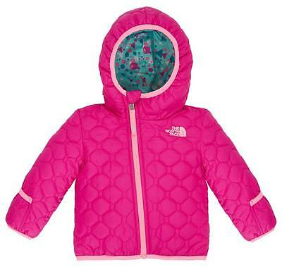 The North Face Infant Baby Girl Reversible Perrito Jacket Luminous Pink 12M