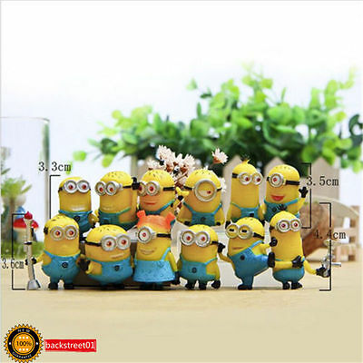 New Set of 12PCS Despicable Me 2 Movie Character Minions Doll Toy Cute Figures