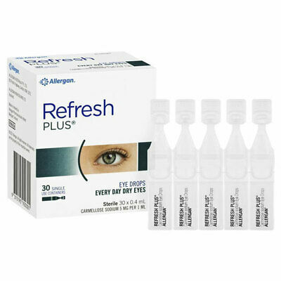 Refresh Plus Eye Drops 30 X 0.4Ml Vials Every Day Dry Eyes Preservative Free