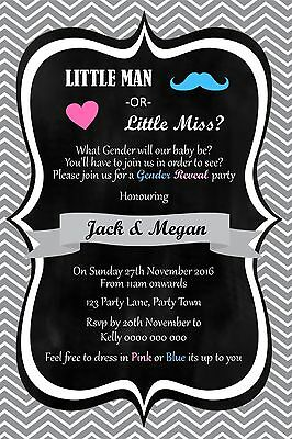 Personalised Gender Reveal Baby Shower Invitation – You Print