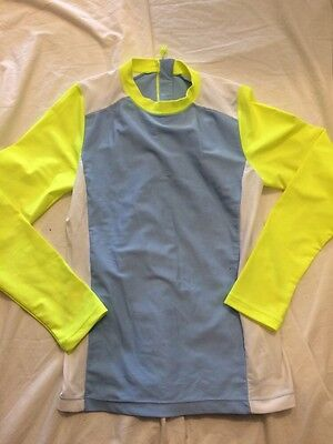 Crewcuts Swim Shirt Cover Up UPF 50+ Yellow blue Size 8 DEAL!!!