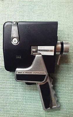 Vintage Bell & Howell Autoload  Zoom  Reflex  8mm Film Camera.With Case