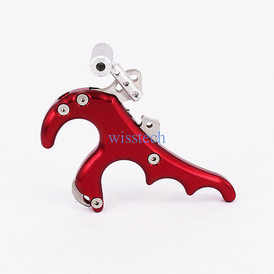 4 Finger Grip Caliper Arrow Release Aids for Compound Bow Hunting Archery Shoot