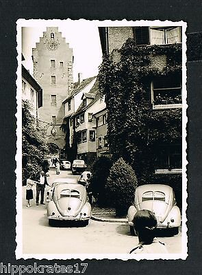 FOTO vintage PHOTO, VW Käfer KdF Brezel beetle Oldtimer Auto car Mersburg /69