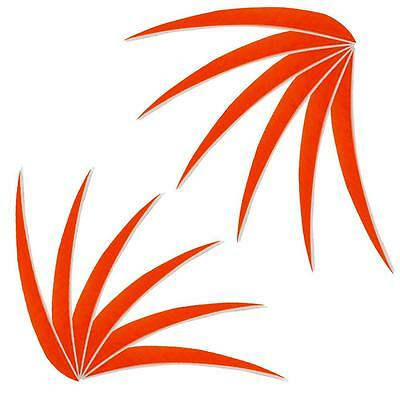 """Orange Feathers 5"""" Fletchings Left / Right Wing Archery Hunting Arrow Feather"""