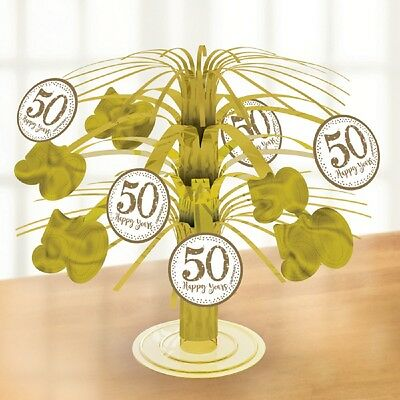 Golden Wedding Cascading Table Centrepiece Party Decoration 50th Anniversary