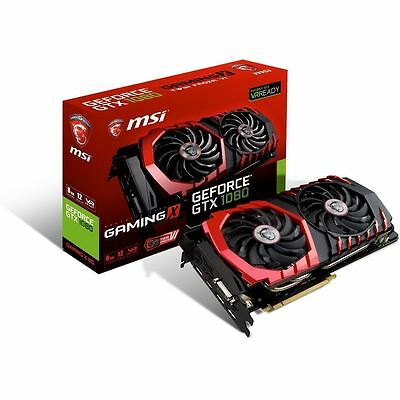 MSI nVidia GeForce 8GB GDDR5X Graphics Video Card GTX1080 Gaming X OC