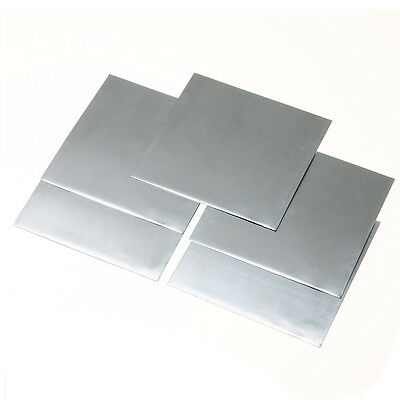 5Pcs High Purity 99.9% Pure Zinc Zn Sheet Plate Metal Foil 100mm x 100mm x 0.5mm