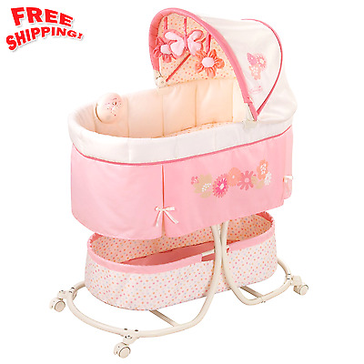 Comfort Infant Baby Bassinet Bed Nursery Furniture Large Storage Newborn -Crib
