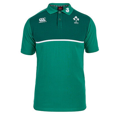 Adults Large Ireland Rugby Cotton Training Polo Green H2