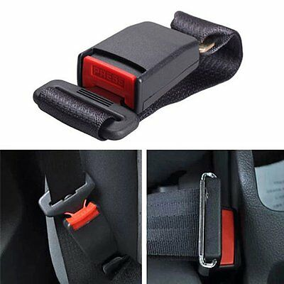 "14"" Black Universal Car Vehicle Seat Belt Extension Extender Strap Safety Buckle"