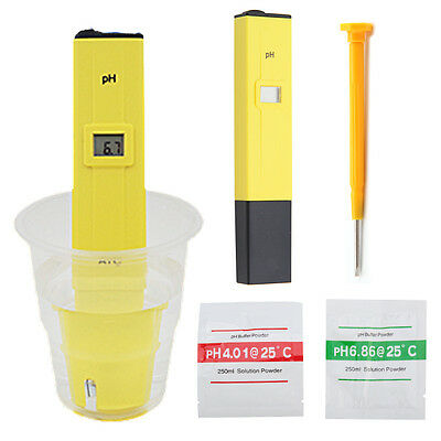 New Portable Pocket Digital PH Meter Tester Hydroponics Pen Aquarium Water Test