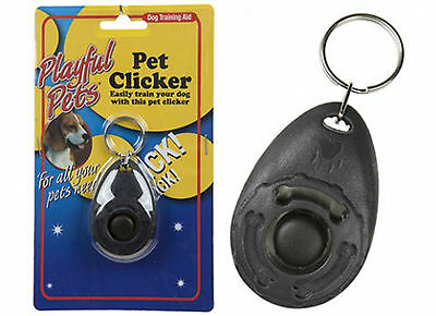 Black Dog Pet Training Clicker/trainer Teaching Tool/dogs/puppy New