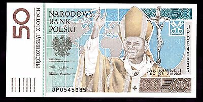 Poland. 50 Zloty. JP0545335. 16-10-2006, Almost Uncirculated.