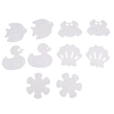 10xCartoon Safety Decals Treads Shower Appliques Bathtub Non-slip Stickers