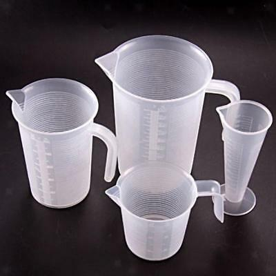 Plastic Graded Cup Measuring Beaker Container Baking Measure Tool 4 Types Scales