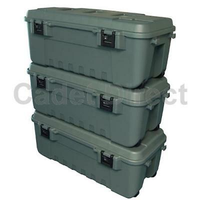 New Heavy Duty Plano Military Storage Trunk, Pack of 3, Olive Drab