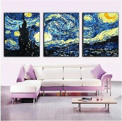 (Framed/Frameless) Set of Three Painting By Number Kits S5 F3P022 Stary Sky