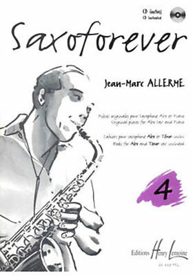 Partition+CD pour saxophone - Jean Marc Allerme - Saxoforever - Volume 4