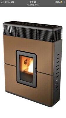 Stufa Pellet Slim  Mcz Philo Color Bronze - 9Kw Canaliz - By Eurocamino