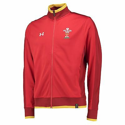 Adults Medium Wales Rugby Track Jacket 15/16 Red H28