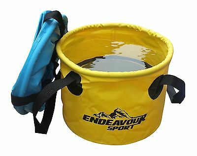 11L Collapsible Travel Basin with 2 Handles in Blue or Yellow.