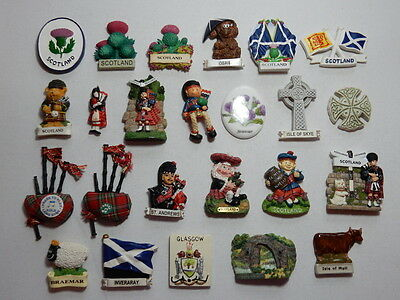 One Selected mostly 3D Souvenir Fridge Magnet from Scotland