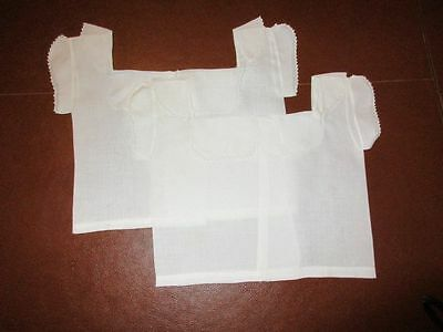 Antique Baby/Doll Layette Linen First Shirts 1800's