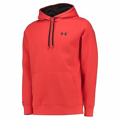 Adults Large Under Armour Rugby Storm Fleece OH Hoodie 15/16 Red H32