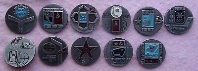 Set of pins USSR hockey players - World and Olympic champions