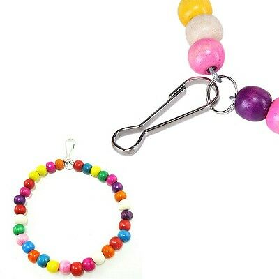 Bird Swing Multi Coloured - Beads - Canary - Budgie - Finch - Birds - Pet Safe