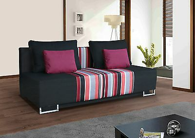 new lusi fabric sofa with bed & storage good quality & cheap, priced to clear !!