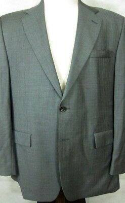 Ralph Lauren Chaps Cashmere and Wool Gray Stripe Suit  43R