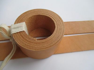 "7,5-8 oz Veg Tanned Leather Belt Blank Strip 51-55"" or 130-140cm. Various Width"