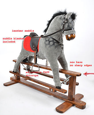 NEW AMIGO. Handmade Brand New LARGE Rocking Horse MADE IN EUROPE from ALANEL