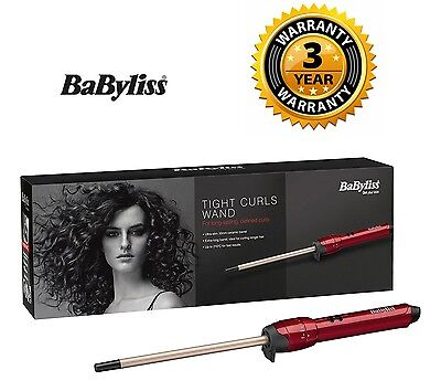 Babyliss TIGHT CURLS WAND Ultra Slim 10mm Hair Curling Wand Chopstick Styler New