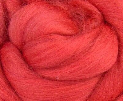 Coral Dyed Super soft 23 mic Merino Top (3.5 oz)