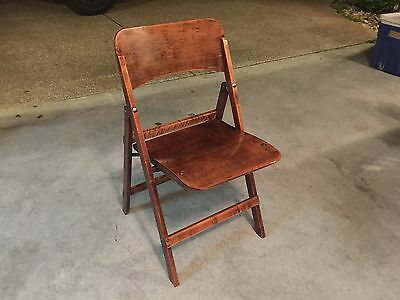 Vintage Wooden Folding Chair Bentwood Wedding Church Bistro Dining