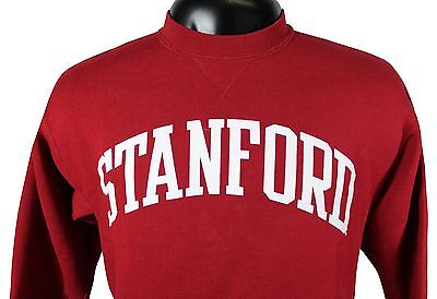 VTG 90s STANFORD University SWEATSHIRT Youth XL / Adult Small 50/50 Made In USA!