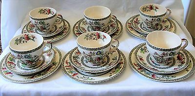 Johnson Brothers Indian Tree x6 Trios Teacup Saucer Teaplate