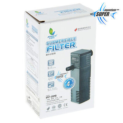 Internal Aquarium Submersible Filter Water Pump, Small Nano Tropical Fish Tank