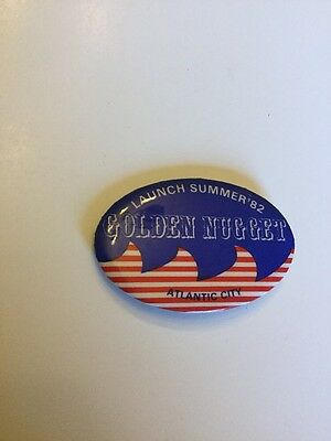 Very Rare 1982 Golden Nugget Casino Pin Atlantic City New Jersey