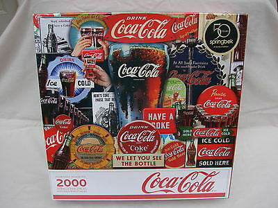 Springbok Coca Cola 2000 Piece Puzzle Decades Of Tradition 50 Years