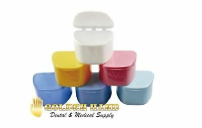 12 Denture Bath Box Orthodontic Mouth Guard Dental Storage Container