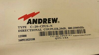 Andrew C-20-CPUS-N Directional Coupler 800-2500MHz
