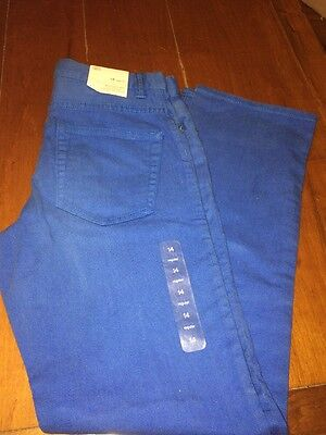 GAP KIDS BOYS 14 REGULAR  Bright Blue JEANS 1969 STRAIGHT ACTION STRETCH NEW!!