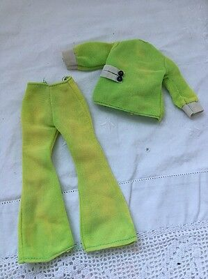 Vintage Knock Off Barbie Doll Clone Outfit LIME GREEN Mego Maddie Mod Outfit