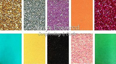 Sullivans A4 Glitter Craft Cardstock 450gsm ~10 Colour Options Scrapbooking Card